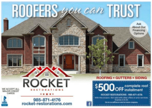 Affordable roofing discounts on he Northshore